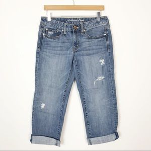 AMERICAN EAGLE Boy Fit Distressed Jeans Size 4